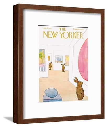 The New Yorker Cover - April 1, 1972-James Stevenson-Framed Art Print