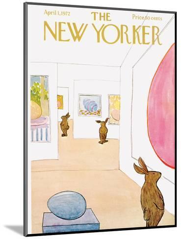 The New Yorker Cover - April 1, 1972-James Stevenson-Mounted Premium Giclee Print