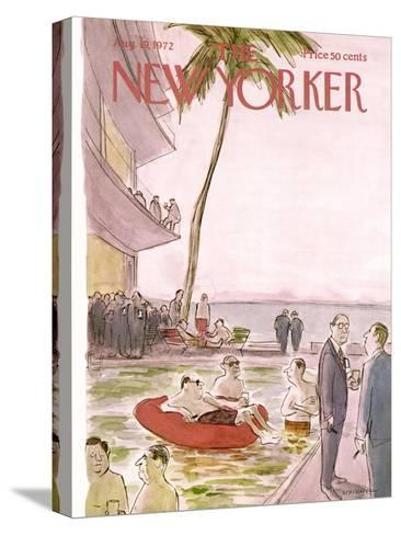 The New Yorker Cover - August 19, 1972-James Stevenson-Stretched Canvas Print