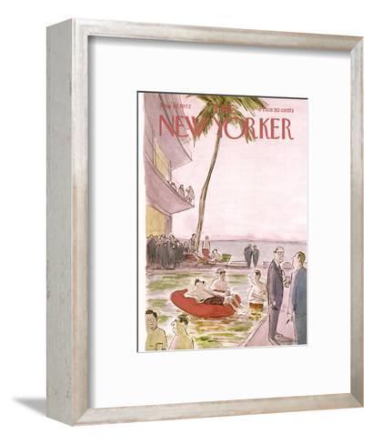 The New Yorker Cover - August 19, 1972-James Stevenson-Framed Art Print