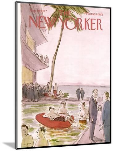 The New Yorker Cover - August 19, 1972-James Stevenson-Mounted Premium Giclee Print
