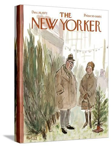 The New Yorker Cover - December 16, 1972-Frank Modell-Stretched Canvas Print