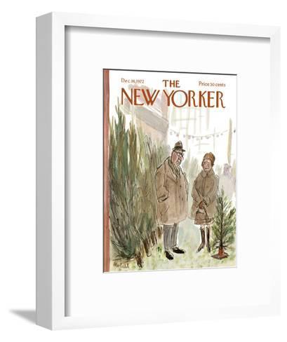 The New Yorker Cover - December 16, 1972-Frank Modell-Framed Art Print