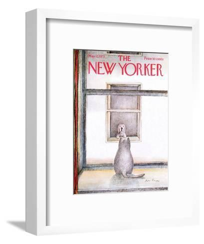 The New Yorker Cover - May 12, 1973-Andre Francois-Framed Art Print