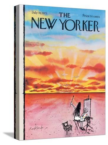The New Yorker Cover - July 16, 1973-Ronald Searle-Stretched Canvas Print