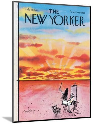 The New Yorker Cover - July 16, 1973-Ronald Searle-Mounted Premium Giclee Print