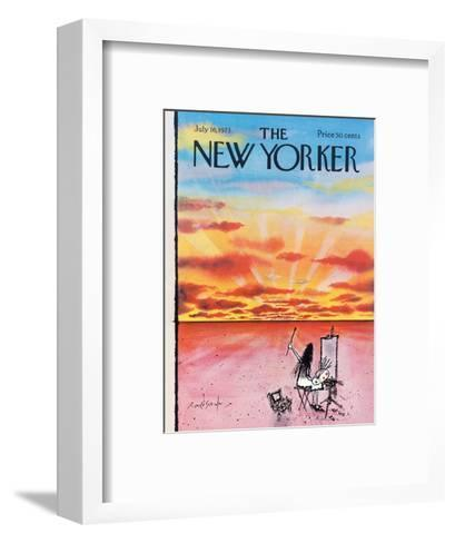 The New Yorker Cover - July 16, 1973-Ronald Searle-Framed Art Print