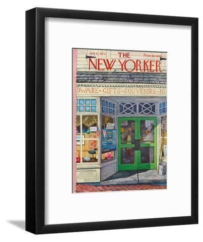 The New Yorker Cover - July 8, 1974-Albert Hubbell-Framed Art Print