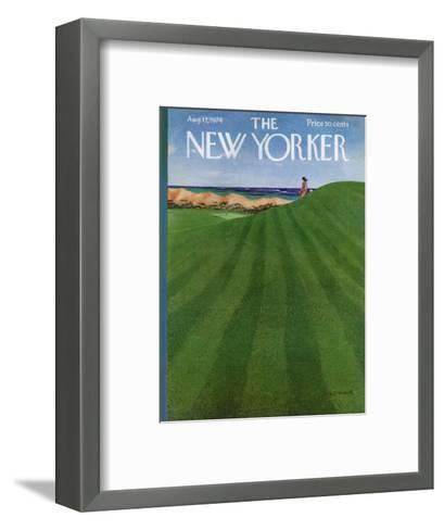 The New Yorker Cover - August 12, 1974-Albert Hubbell-Framed Art Print