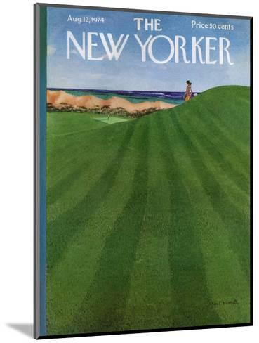 The New Yorker Cover - August 12, 1974-Albert Hubbell-Mounted Premium Giclee Print