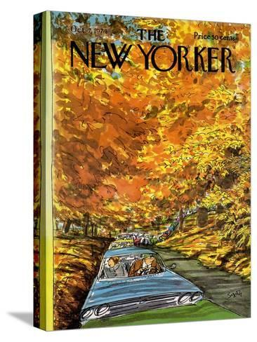 The New Yorker Cover - October 7, 1974-Charles Saxon-Stretched Canvas Print
