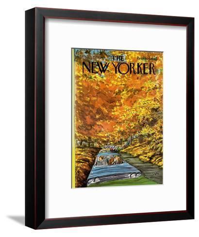 The New Yorker Cover - October 7, 1974-Charles Saxon-Framed Art Print