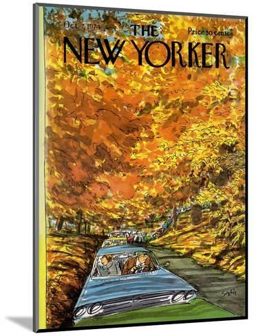 The New Yorker Cover - October 7, 1974-Charles Saxon-Mounted Premium Giclee Print