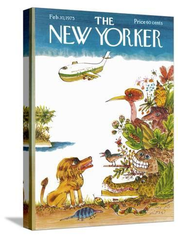 The New Yorker Cover - February 10, 1975-Joseph Low-Stretched Canvas Print