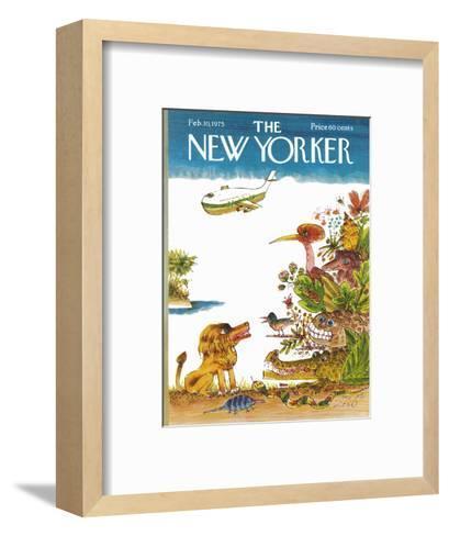 The New Yorker Cover - February 10, 1975-Joseph Low-Framed Art Print
