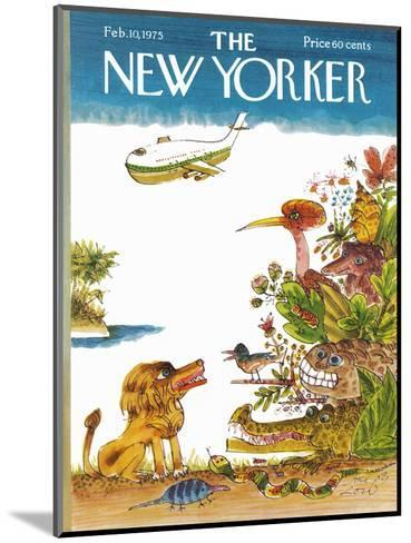 The New Yorker Cover - February 10, 1975-Joseph Low-Mounted Premium Giclee Print