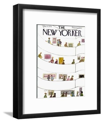 The New Yorker Cover - March 17, 1975-Laura Jean Allen-Framed Art Print