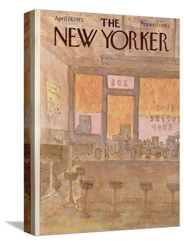 The New Yorker Cover - April 28, 1975-James Stevenson-Stretched Canvas Print