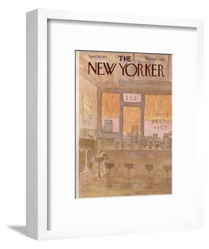The New Yorker Cover - April 28, 1975-James Stevenson-Framed Art Print