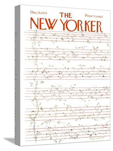 The New Yorker Cover - December 15, 1975-James Stevenson-Stretched Canvas Print