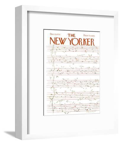 The New Yorker Cover - December 15, 1975-James Stevenson-Framed Art Print