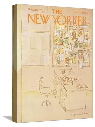 The New Yorker Cover - December 29, 1975-Eug?ne Mihaesco-Stretched Canvas Print