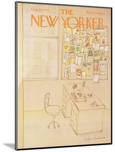 The New Yorker Cover - December 29, 1975-Eug?ne Mihaesco-Mounted Premium Giclee Print