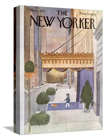 The New Yorker Cover - March 8, 1976-Charles E. Martin-Stretched Canvas Print