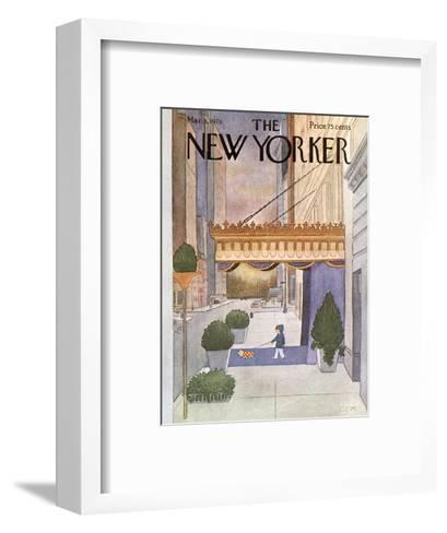 The New Yorker Cover - March 8, 1976-Charles E. Martin-Framed Art Print