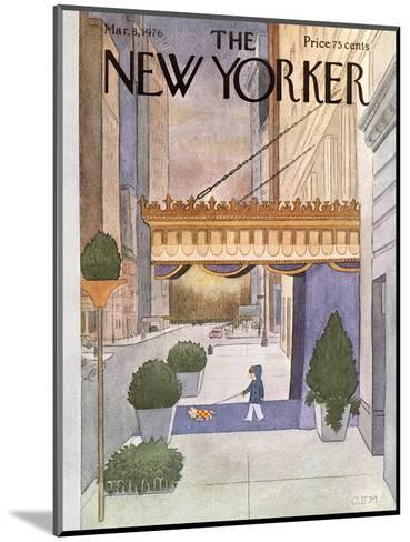The New Yorker Cover - March 8, 1976-Charles E. Martin-Mounted Premium Giclee Print