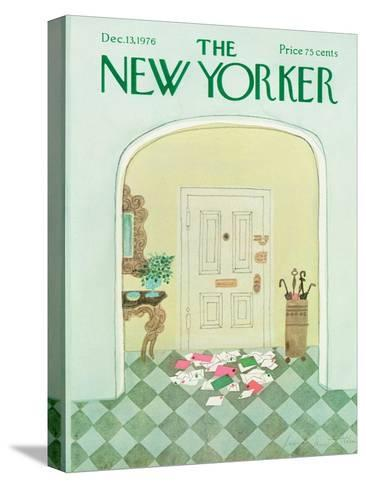 The New Yorker Cover - December 13, 1976-Laura Jean Allen-Stretched Canvas Print