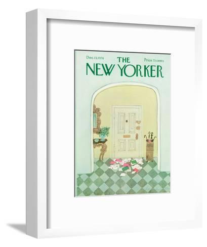 The New Yorker Cover - December 13, 1976-Laura Jean Allen-Framed Art Print