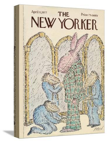 The New Yorker Cover - April 11, 1977-Edward Koren-Stretched Canvas Print