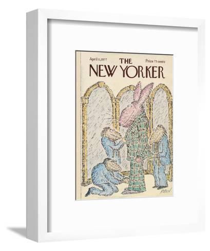 The New Yorker Cover - April 11, 1977-Edward Koren-Framed Art Print