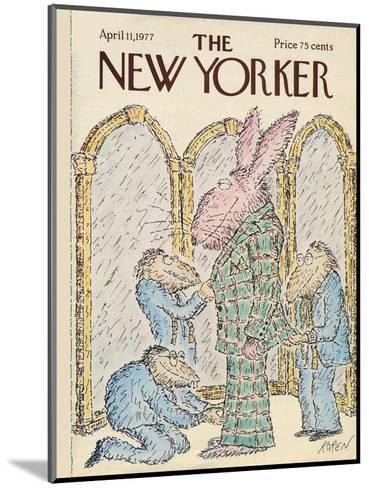 The New Yorker Cover - April 11, 1977-Edward Koren-Mounted Premium Giclee Print