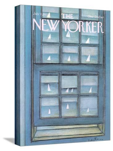 The New Yorker Cover - July 11, 1977-Andre Francois-Stretched Canvas Print