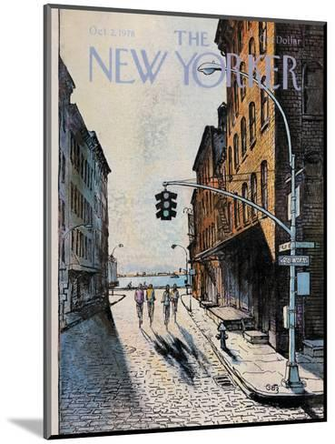 The New Yorker Cover - October 2, 1978-Arthur Getz-Mounted Premium Giclee Print