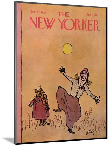 The New Yorker Cover - October 30, 1978-William Steig-Mounted Premium Giclee Print