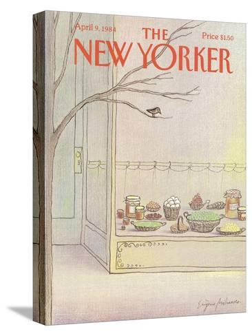The New Yorker Cover - April 9, 1984-Eug?ne Mihaesco-Stretched Canvas Print