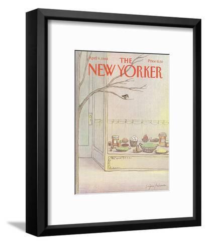 The New Yorker Cover - April 9, 1984-Eug?ne Mihaesco-Framed Art Print