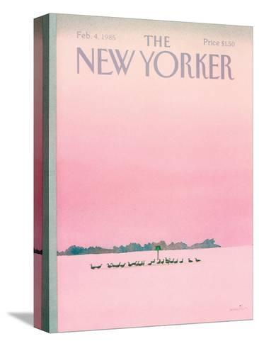 The New Yorker Cover - February 4, 1985-Susan Davis-Stretched Canvas Print