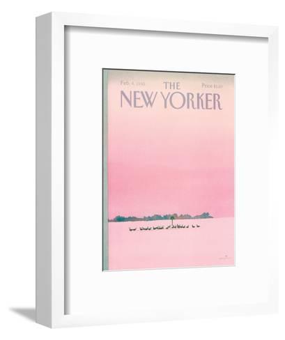 The New Yorker Cover - February 4, 1985-Susan Davis-Framed Art Print