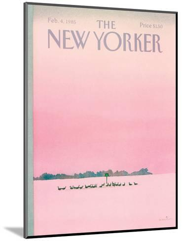 The New Yorker Cover - February 4, 1985-Susan Davis-Mounted Premium Giclee Print
