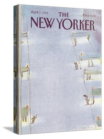 The New Yorker Cover - April 7, 1986-Eug?ne Mihaesco-Stretched Canvas Print