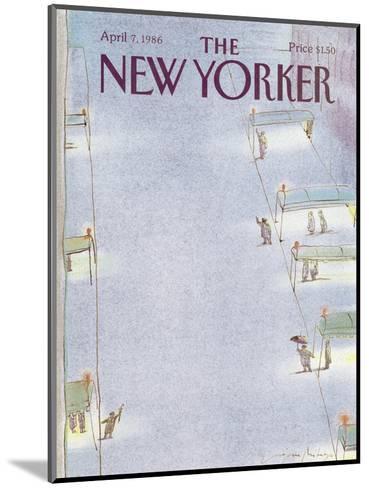 The New Yorker Cover - April 7, 1986-Eug?ne Mihaesco-Mounted Premium Giclee Print