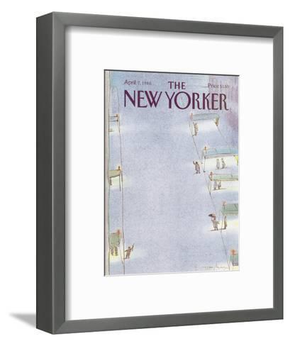 The New Yorker Cover - April 7, 1986-Eug?ne Mihaesco-Framed Art Print