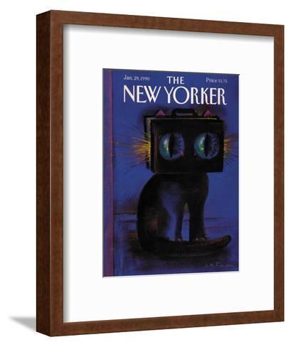 The New Yorker Cover - January 29, 1990-Andre Francois-Framed Art Print