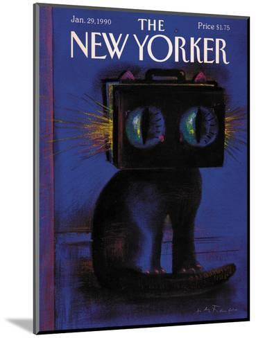 The New Yorker Cover - January 29, 1990-Andre Francois-Mounted Premium Giclee Print