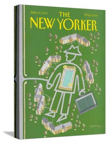 The New Yorker Cover - July 20, 1992-Kathy Osborn-Stretched Canvas Print