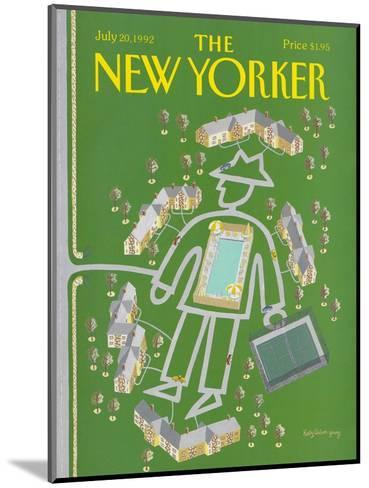 The New Yorker Cover - July 20, 1992-Kathy Osborn-Mounted Premium Giclee Print